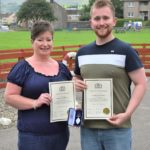 Christine and Christopher Webb with their British Citizen Awards.