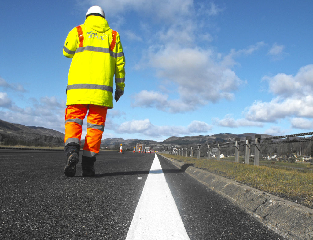 Convoy system in place as A83 resurfacing gets underway