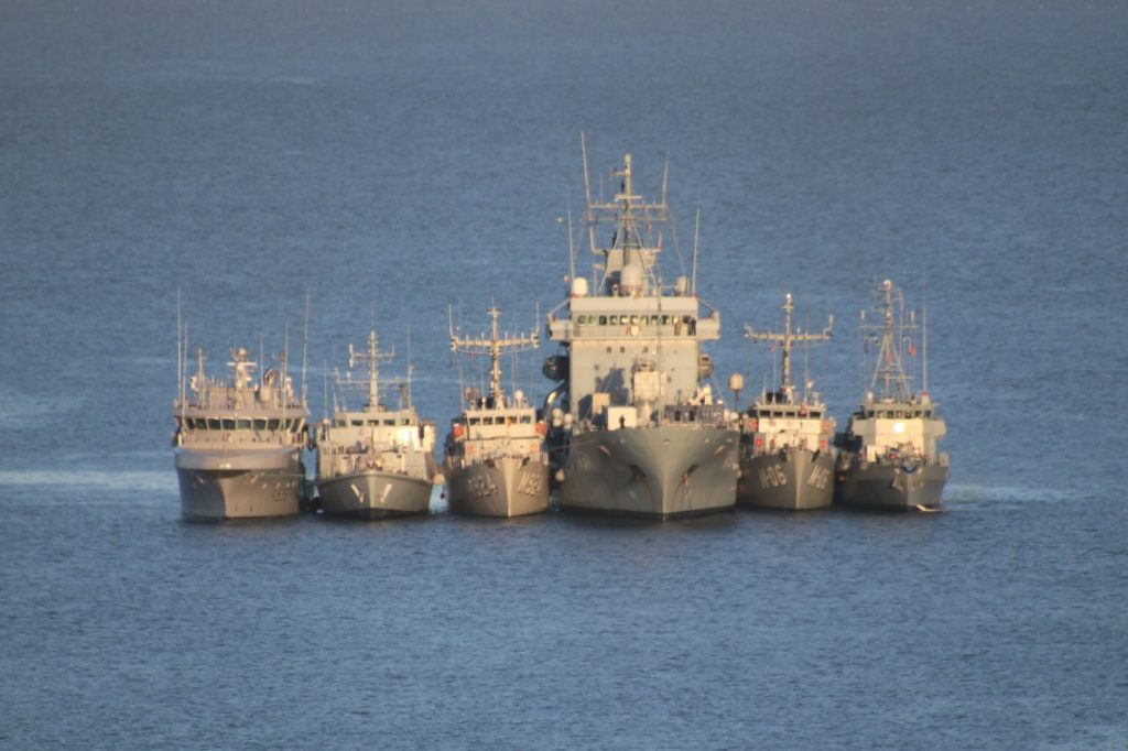 The ships are in the Campbeltown area as part of the UK-led Joint Warrior 212 maritime exercise.