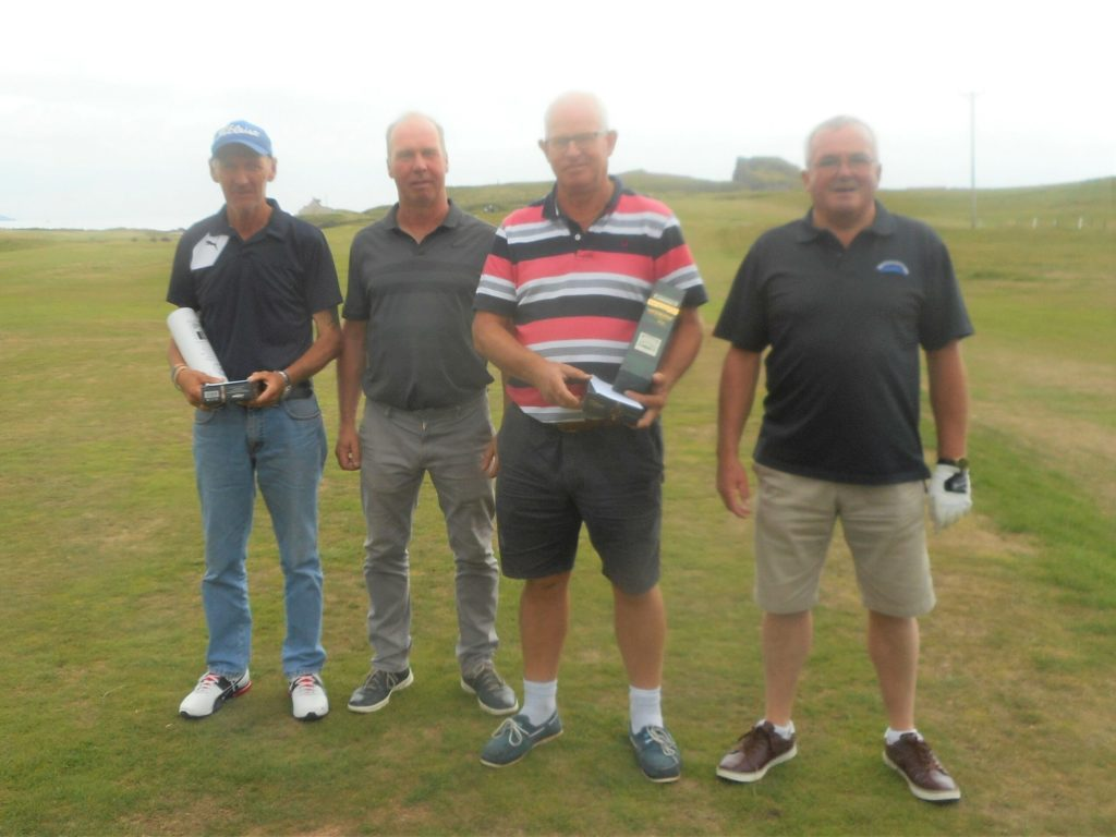 From left: Campbell MacBrayne, Vice-Captain Donald Brown, Keith Crawford and Danny Halliday.