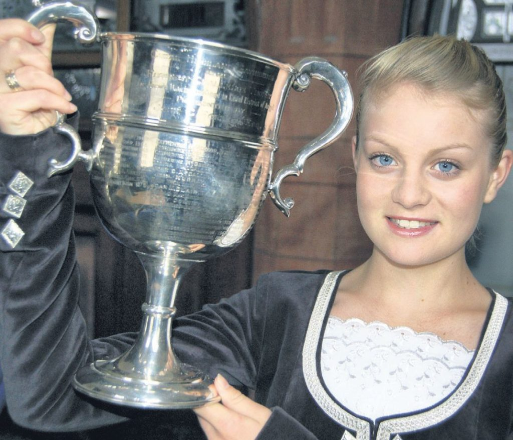 In 2011: Rachael O'May brought the JC Forrest Challenge Trophy back to Kintyre after being crowned Argyll Champion for under 16s at Cowal Highland Gathering.