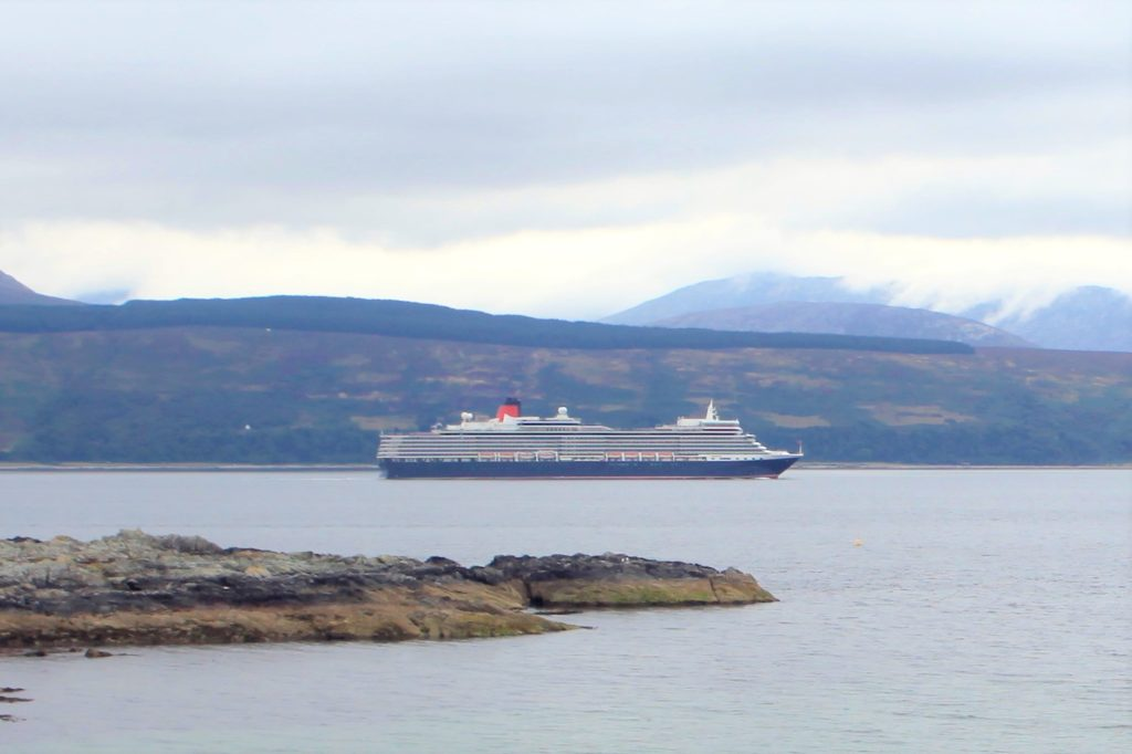 Ships ahoy! Luxury cruise liners pass Kintyre