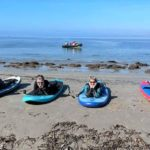 Kintyre paddleboard enthusiasts, from left, Joanna Holbrook, Trudy Kennedy, Marjorie Leighton and Lindsay Wallace.
