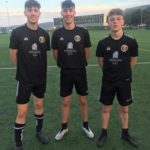 The under 17s players who are on the pathway to coaching, from left:Euan Dott, Josh Arkell and Calum Ellis.