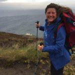 Karen crossed the 4,000-mile mark at the Mull of Kintyre.