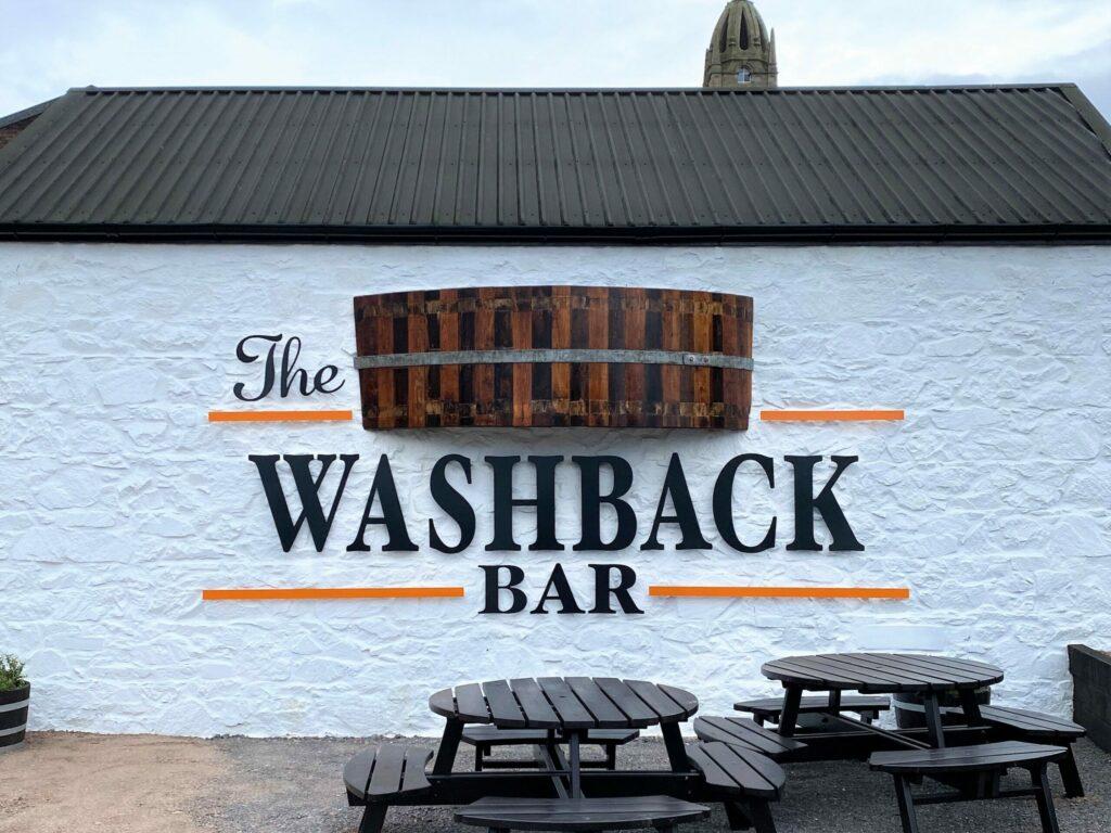 The Washback Bar is housed inside the distillery's former bottling hall.
