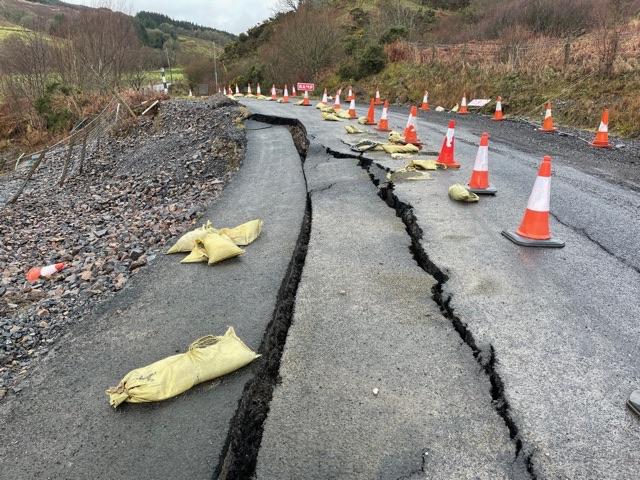Concern amid repair delay to subsiding Skipness road