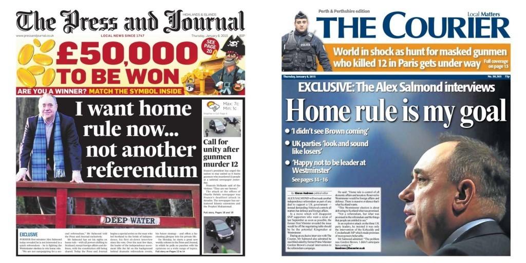 Alex Salmond says no to another referendum
