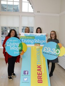 Breakthrough Dundee becomes an accredited Living Wage employer