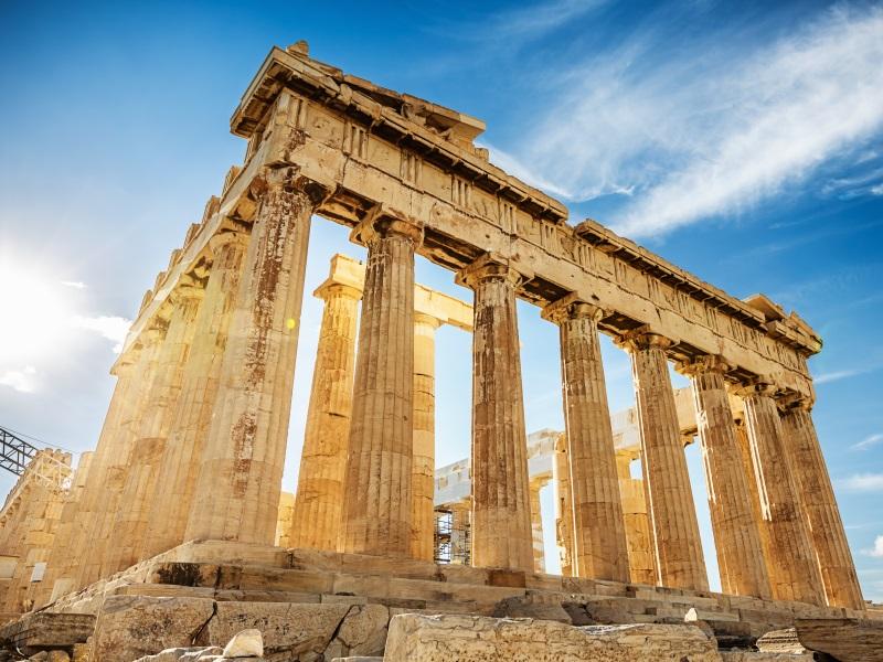 Greek landmarks in Athens - Parthenon