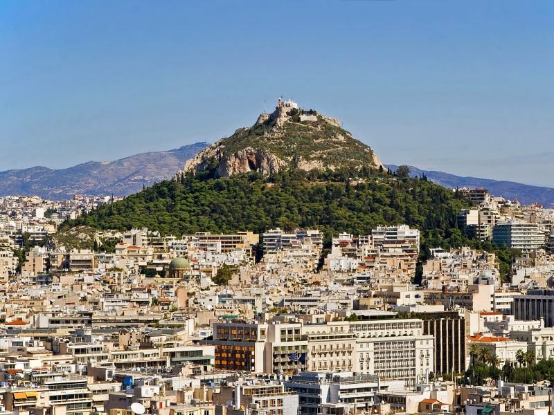 Greek landmarks in Athens - Mount Lycabettus