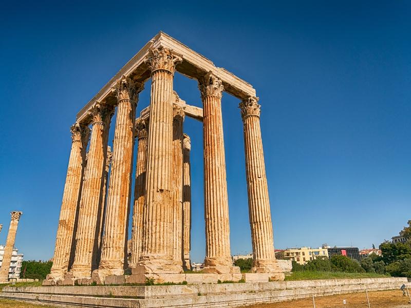 Greek landmarks in Athens - Temple of Olympian Zeus