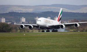 Emirates A380 Glasgow