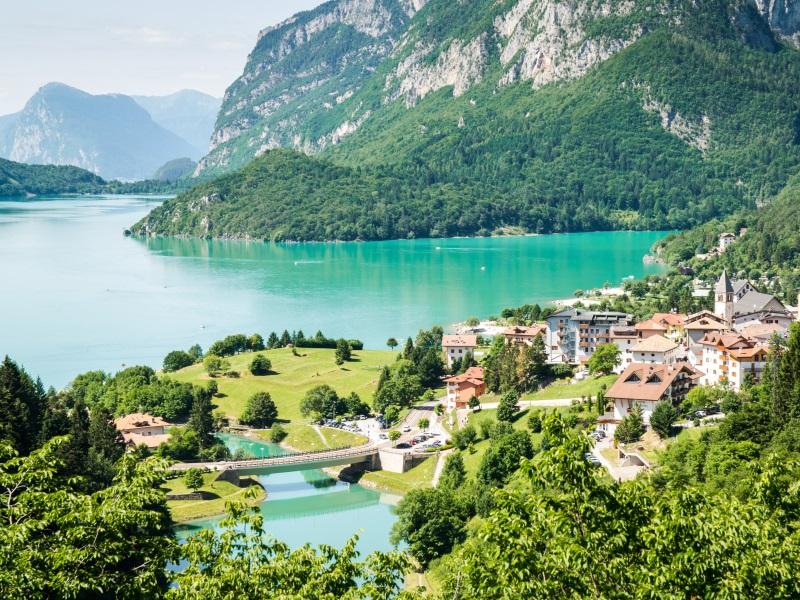 holidays to dolomites - lake molveno