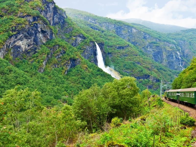 Flamsbana Mountain Railway Line