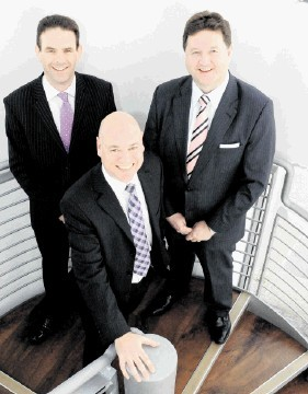 Frank Millar, left, director of Costain's Hydrocarbons and Chemicals sector, ClerkMaxwell's managing director John Wilson,  (centre), and director Alistair Dornan