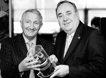 CRITICAL MASS:  Thierry Pilenko, left, and Alex Salmond at the official opening