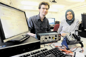 RGU introduces the new LabVIEW Academy: (from left): James Philp and Dr Dallia Ali