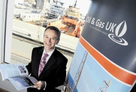 Oil and Gas UK's economics director, Mike Tholen,chaired this morning's business breakfast.