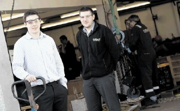 Cosalt Offshore's new graduates Michael Phillips and Andrew Sutherland