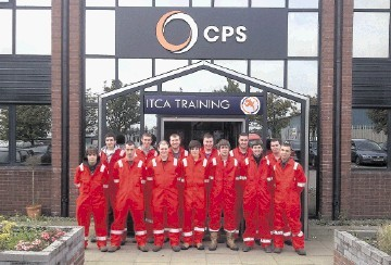 Caledonian Petroleum Services apprentices celebrate the firm receiving the Employer of the Year award