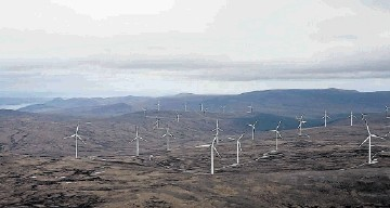 WILD AND WINDY: A visual impression of what  43 giant wind turbines would look like from Carn Chuinneag in the Fannichs, Beinn Dearg and Glencalvie area