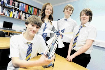 TOP: Last year's winners, from left, Connah O'Reilly-McLean, 15,  Lindsay Scott, 15, Oliver Neill, 14, and Bob O'Reilly-McLean, 13