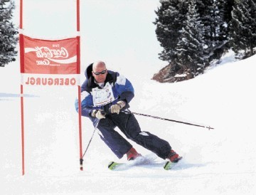 HAPPY ON THE SLOPES: Before he became a commercial diver the Subsea UK chief executive worked as a ski instructor