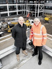 CONTINUED EXPANSION: David Shand, right,  with Knight Property Group director Howard Crawshaw, at the    Westpoint Business Park development