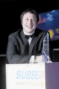 GOOD REASON TO SMILE: Robert Eddon, winner of Young Emerging Talent at Subsea UK Awards