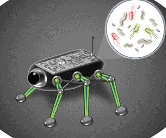 A miniature space robot designed to be powered by microbes has been designed by a US scientist.