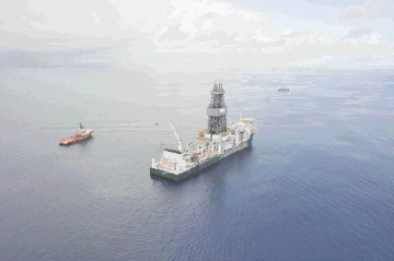 Super-drillship Ocean Poseidon off East Africa