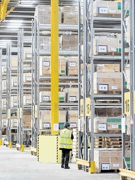 CAPACITY BOOST: The  new 83,000sq ft Peterson SBS warehouse at Edzell