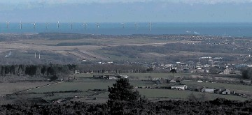 GLIMPSE OF THE FUTURE? An artist's impression of how the proposed windfarm would look from Brimmond Hill on the western outskirts of Aberdeen