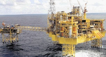 "ABANDONED: Total's Elgin platform in the North Sea. The oil giant warned that the leak from a ""dead well"" could go on for months if a solution is not found"