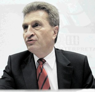 COMMENTS: European Commissioner for Energy Gunther Oettinger