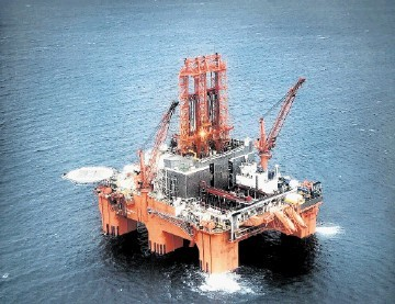 TOTAL BEAST: Well 205/9-2 on the Tomintoul prospect is being drilled by the super-rig West Phoenix.