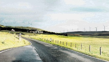 NEW ERA: An artist's impression of the Viking Energy windfarm, whose 103 turbines would make it the third largest in Scotland