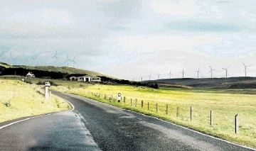 NEW HORIZONS: An artist's impression from the developer of the planned Viking Energy windfarm