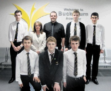 The Re-Thinking Energy team from Bucksburn Academy