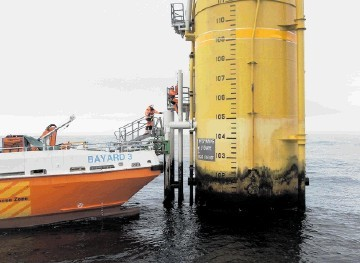 Osbit's offshore wind turbine access system being tested offshore Norway