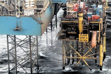 STRICKEN:   The gas is still leaking from the Total Elgin platform