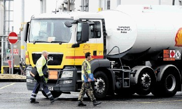 FUELLED UP: Feelings are running high among tanker drivers as the Unite union and employers embark on a new round of talks