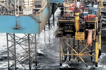 TROUBLE SPOT: The gas leak from the Total Elgin platform