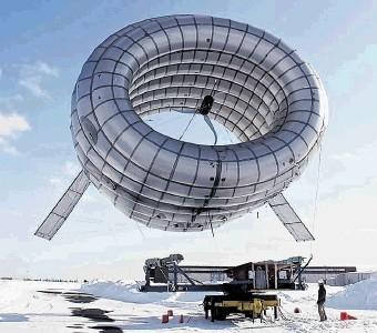 HIGH FLYER: A US company has developed a novel airbourne wind turbine