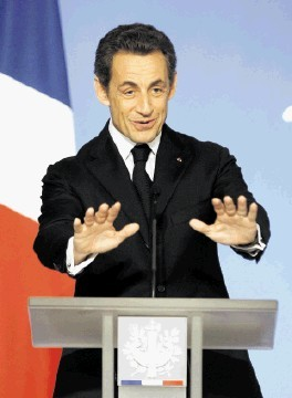 NON: France's President Nicolas Sarkozy banned fracking last year