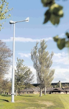 TURNED OFF: The wind turbine in the grounds of Culloden High School