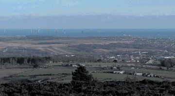 DIVISIVE: An artist's impression of the view of the Vattenfall offshore windfarm from Brimmond Hill near Kingswells