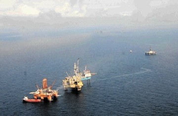 Total's Elgin platform in the North Sea