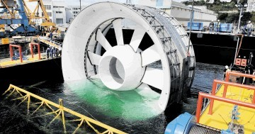 OpenHydro's tidal device was Scotland's first grid-connected tidal device to produce electricity from the tides